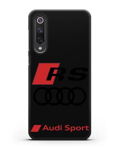Чехол с логотипом Audi RS Sport силикон черный для Xiaomi Mi 9 SE