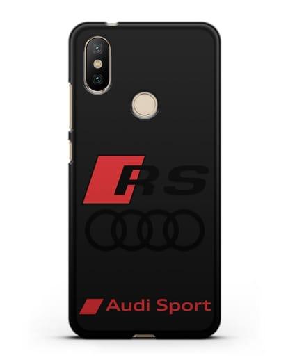 Чехол с логотипом Audi RS Sport силикон черный для Xiaomi Mi A2