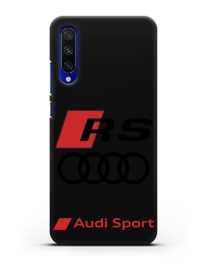 Чехол с логотипом Audi RS Sport силикон черный для Xiaomi Mi CC9 E