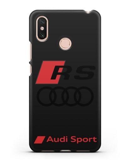 Чехол с логотипом Audi RS Sport силикон черный для Xiaomi Mi Max 3