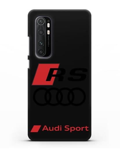 Чехол с логотипом Audi RS Sport силикон черный для Xiaomi Mi Note 10 lite