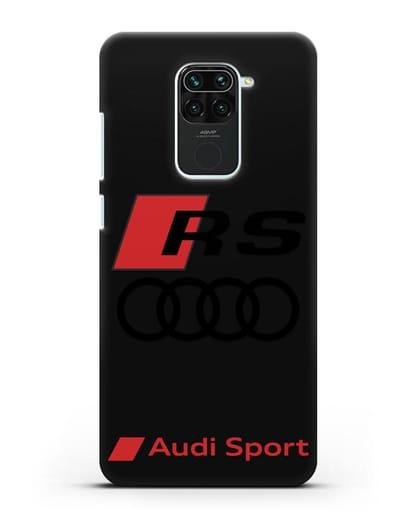 Чехол с логотипом Audi RS Sport силикон черный для Xiaomi Redmi 10X