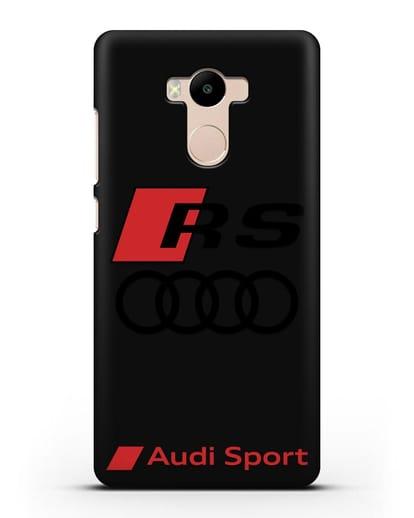 Чехол с логотипом Audi RS Sport силикон черный для Xiaomi Redmi 4 Pro