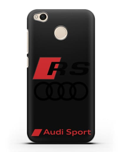 Чехол с логотипом Audi RS Sport силикон черный для Xiaomi Redmi 4X