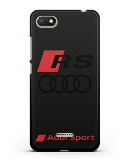 Чехол с логотипом Audi RS Sport силикон черный для Xiaomi Redmi 6A