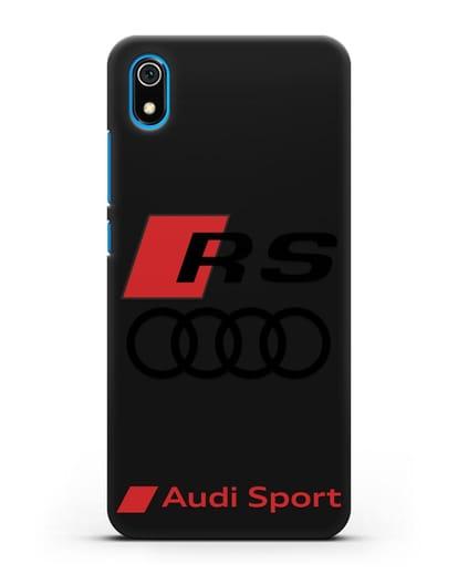 Чехол с логотипом Audi RS Sport силикон черный для Xiaomi Redmi 7A