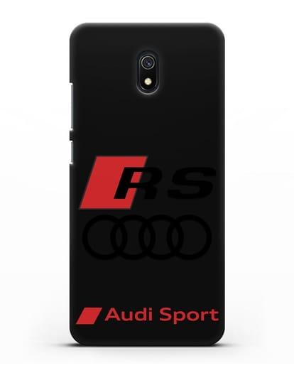 Чехол с логотипом Audi RS Sport силикон черный для Xiaomi Redmi 8A