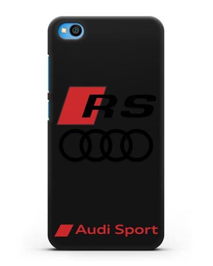 Чехол с логотипом Audi RS Sport силикон черный для Xiaomi Redmi Go
