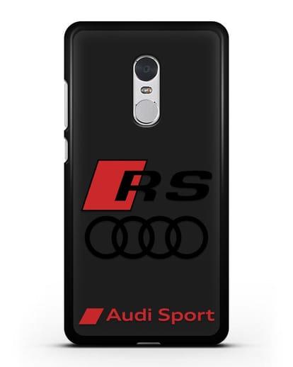 Чехол с логотипом Audi RS Sport силикон черный для Xiaomi Redmi Note 4X