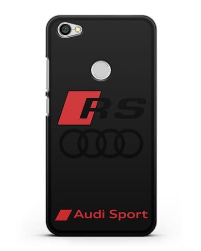 Чехол с логотипом Audi RS Sport силикон черный для Xiaomi Redmi Note 5A Prime