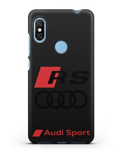 Чехол с логотипом Audi RS Sport силикон черный для Xiaomi Redmi Note 6 Pro