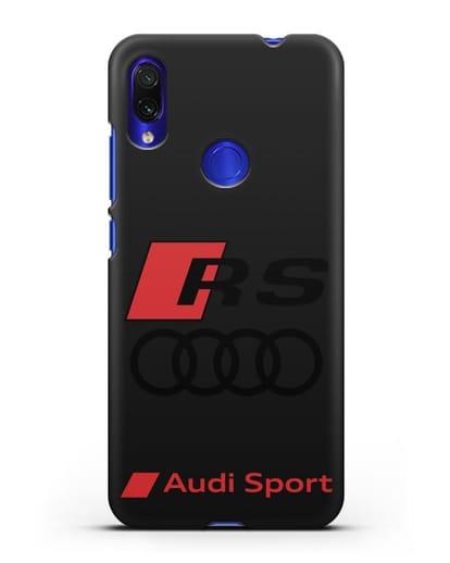 Чехол с логотипом Audi RS Sport силикон черный для Xiaomi Redmi Note 7