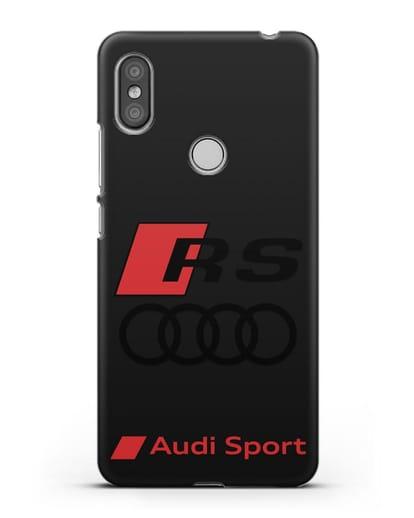 Чехол с логотипом Audi RS Sport силикон черный для Xiaomi Redmi S2