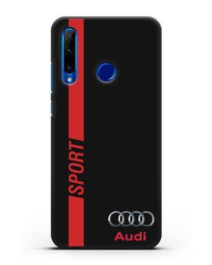 Чехол с надписью Audi Sport силикон черный для Honor 10i
