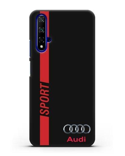Чехол с надписью Audi Sport силикон черный для Honor 20