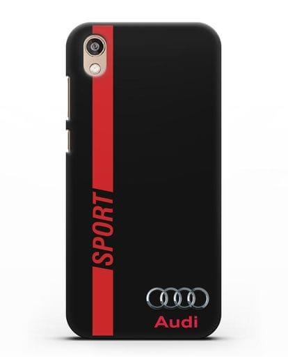 Чехол с надписью Audi Sport силикон черный для Honor 8S Prime