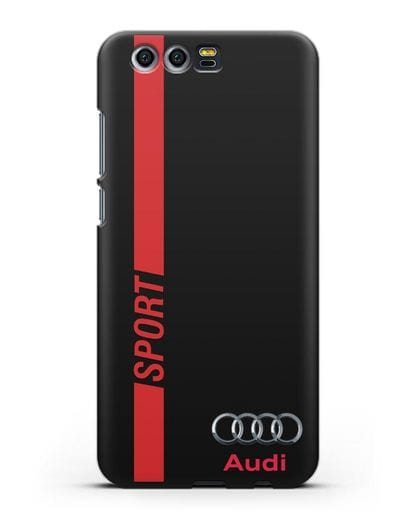 Чехол с надписью Audi Sport силикон черный для Honor 9