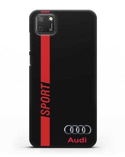 Чехол с надписью Audi Sport силикон черный для Honor 9S