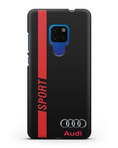 Чехол с надписью Audi Sport силикон черный для Huawei Mate 20