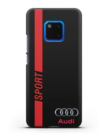 Чехол с надписью Audi Sport силикон черный для Huawei Mate 20 Pro