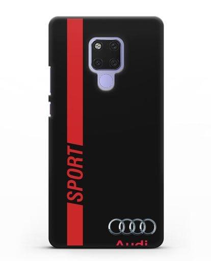 Чехол с надписью Audi Sport силикон черный для Huawei Mate 20X