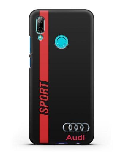 Чехол с надписью Audi Sport силикон черный для Huawei P Smart 2019