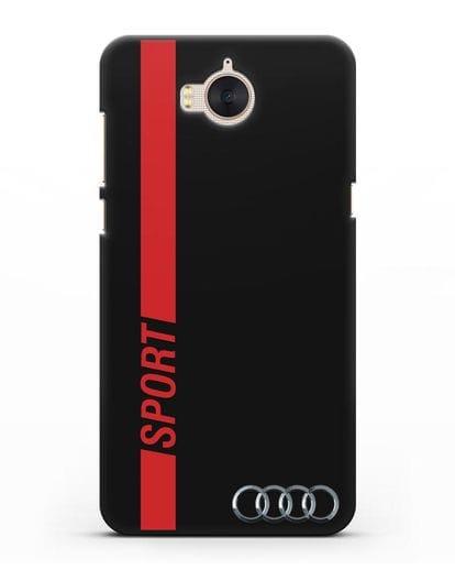 Чехол с надписью Audi Sport силикон черный для Huawei Y5 2017