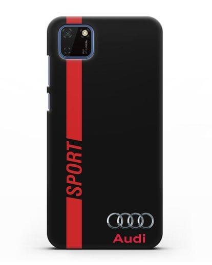 Чехол с надписью Audi Sport силикон черный для Huawei Y5P