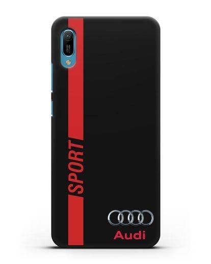 Чехол с надписью Audi Sport силикон черный для Huawei Y6 2019