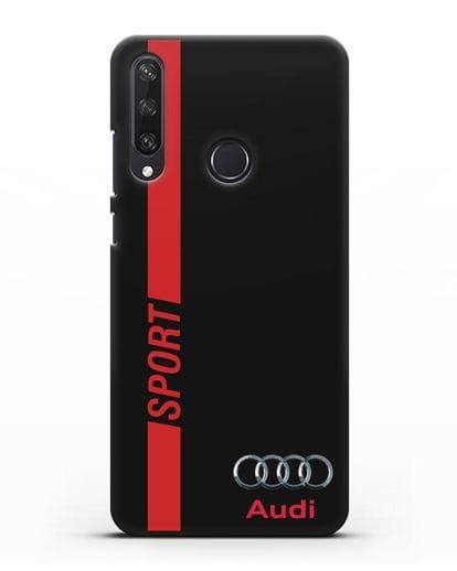 Чехол с надписью Audi Sport силикон черный для Huawei Y6P
