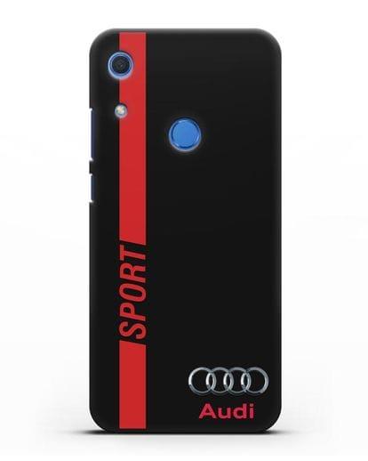 Чехол с надписью Audi Sport силикон черный для Huawei Y6s