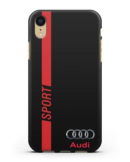 Чехол с надписью Audi Sport силикон черный для iPhone XR