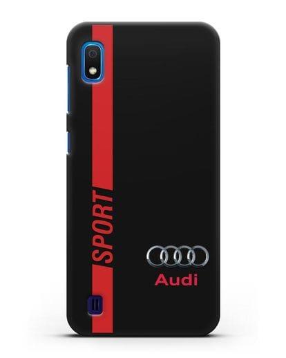 Чехол с надписью Audi Sport силикон черный для Samsung Galaxy A10 [SM-A105F]
