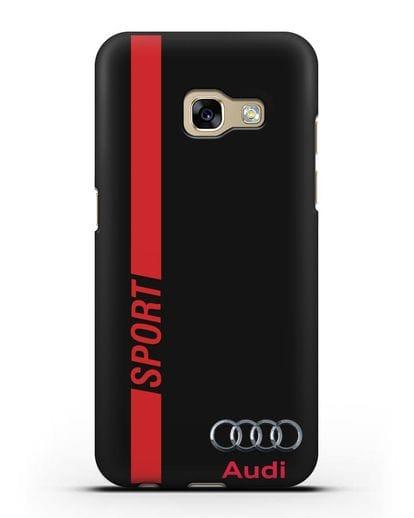 Чехол с надписью Audi Sport силикон черный для Samsung Galaxy A3 2017 [SM-A320F]