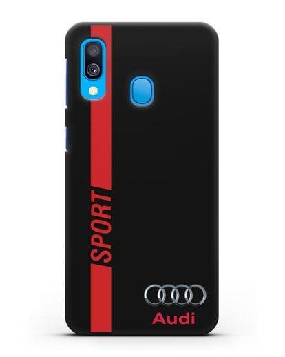 Чехол с надписью Audi Sport силикон черный для Samsung Galaxy A40 [SM-A405F]