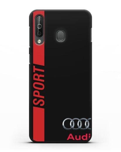 Чехол с надписью Audi Sport силикон черный для Samsung Galaxy A40s [SM-A507FN]