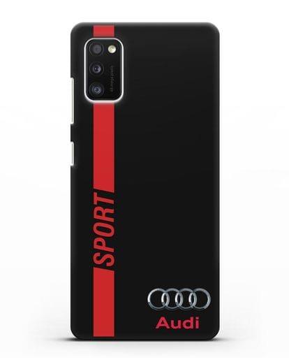 Чехол с надписью Audi Sport силикон черный для Samsung Galaxy A41 [SM-A415F]