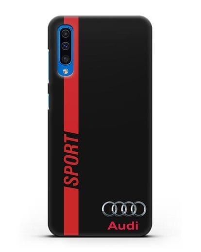 Чехол с надписью Audi Sport силикон черный для Samsung Galaxy A50 [SM-A505F]
