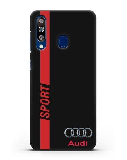 Чехол с надписью Audi Sport силикон черный для Samsung Galaxy A60 [SM-A606F]