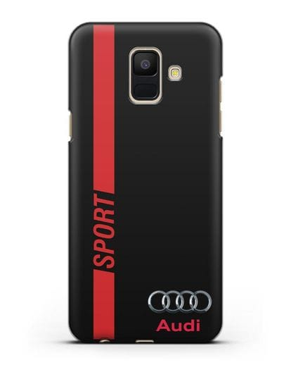 Чехол с надписью Audi Sport силикон черный для Samsung Galaxy A6 2018 [SM-A600F]