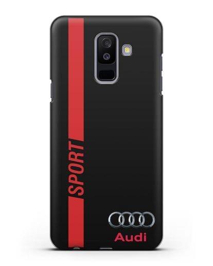 Чехол с надписью Audi Sport силикон черный для Samsung Galaxy A6 Plus 2018 [SM-A605F]