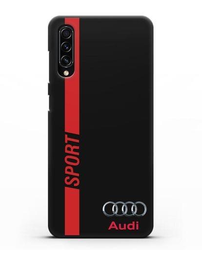 Чехол с надписью Audi Sport силикон черный для Samsung Galaxy A70s [SM-A707F]