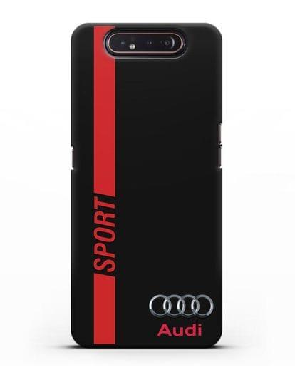 Чехол с надписью Audi Sport силикон черный для Samsung Galaxy A80 [SM-A805F]