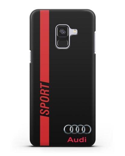 Чехол с надписью Audi Sport силикон черный для Samsung Galaxy A8 Plus [SM-A730F]