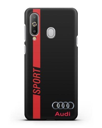 Чехол с надписью Audi Sport силикон черный для Samsung Galaxy A8s [SM-G8870]