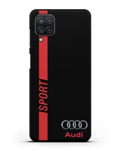 Чехол с надписью Audi Sport силикон черный для Samsung Galaxy A12 [SM-A125F]
