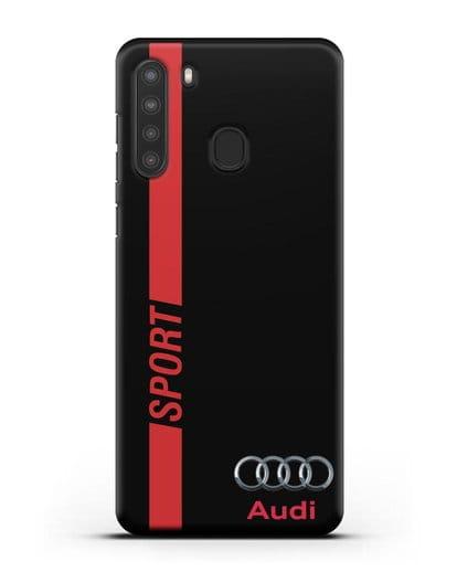 Чехол с надписью Audi Sport силикон черный для Samsung Galaxy A21 [SM-A215]