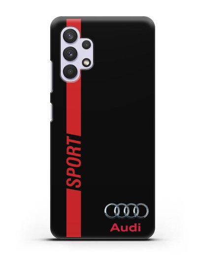 Чехол с надписью Audi Sport силикон черный для Samsung Galaxy A32 5G [SM-A326B]