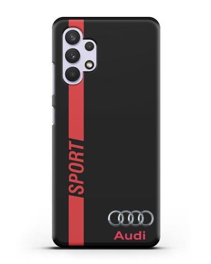 Чехол с надписью Audi Sport силикон черный для Samsung Galaxy A32 4G [SM-A325F]
