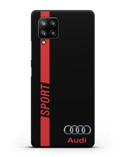Чехол с надписью Audi Sport силикон черный для Samsung Galaxy A42 [SM-A426B]